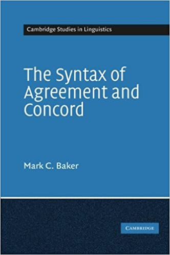 Amazon The Syntax Of Agreement And Concord Cambridge Studies