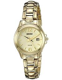 Seiko Women's SUT236 Solar Analog Display Japanese Quartz Gold Watch
