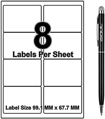 A4 SELF ADHESIVE PRINTER ADDRESS LABELS 100 SHEETS L7165 8 PER SHEET