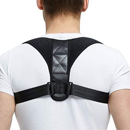 調節可能な背中の姿勢矯正器鎖骨椎骨背中肩支えサポートベルト姿勢矯正 (Size : M)