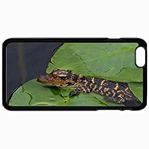 Personalized Protective Hardshell Back Hardcover For iPhone 6 Plus, Crocodile Design In Black Case Color