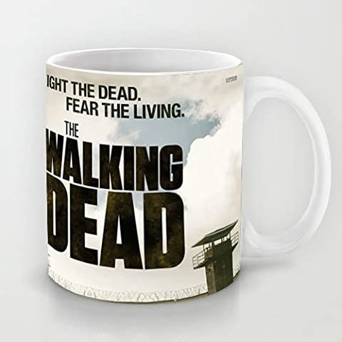 Grateful Gift Choice - White 11 oz Classic White Ceramic Mugs TV show Cutom Design with Rick Grimes The Walking Dead Coffee Mugs/Tea Mugs/Drink Cups -Dishwasher and Microwave Safe