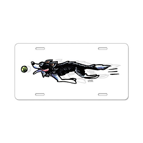 Border Collie Merchandise - CafePress - Border Collie Action - Aluminum License Plate, Front License Plate, Vanity Tag