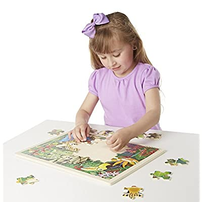 Melissa & Doug 48pc Wooden Jigsaw Puzzle - Rainforest: Melissa & Doug: Toys & Games