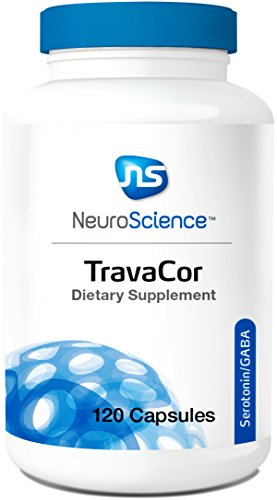 NeuroScience TravaCor - Mood & Calm Support Complex with 5-HTP + L-Theanine, Serotonin/GABA Neurotransmitter Supplement (120 Capsules) - Gaba Dietary Supplement