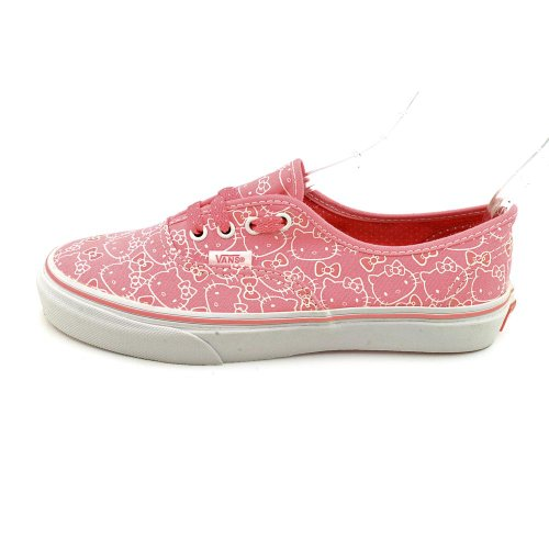 Vans Authentic Youth Girls Size 3.5 Pink Textile Sneakers Shoes