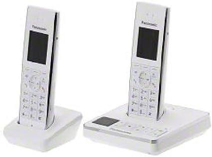 Panasonic - Teléfono inalámbrico con AB Duo KX-TG8562GW (2 terminales, pantalla TFT en color de 4,57 cm, vigilabebés, despertador con función repetición, contestador con 40 minutos de grabación): Amazon.es: Oficina y papelería