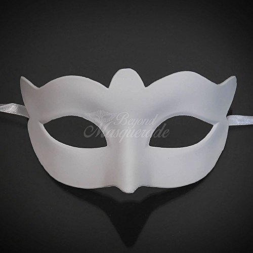 Unpainted Blank Mask, Womens Masquerade Mask for Costume