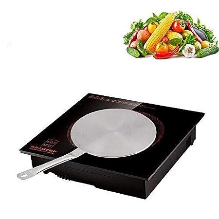 Convertitore di calore con diffusore in acciaio inox per piano cottura a induzione con impugnatura a prova di calore(20cm) Haofy
