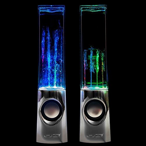 DE Dancing Water Speakers - Special Edition Chrome (In Retail Packaging) by DE