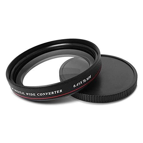 TALLA 58mm. RoadRomao ZOMEI Ultrafina 0.45X Pro MC AF Digital de Conversión Gran Filtrar Gran Angular