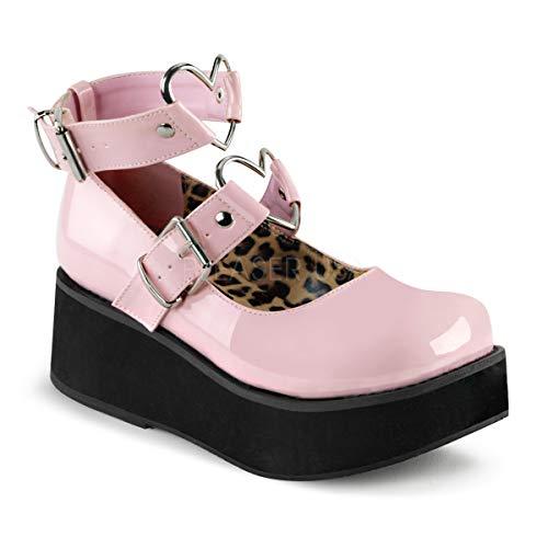 Demonia Women's Spr02/Bppt Fashion Sneaker, Pink Patent, 8 M -