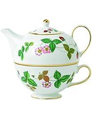 Wedgwood Wild Strawberry Tea For One Green