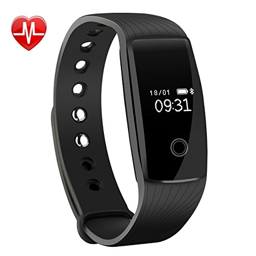 Fitness tracker,Mpow Heart Rate Monitor, Smart Bracelet, Health Tracker Activity Fitness Wristband Pedometer,Sport Tracker-for Running,Walking,Sleeping for iPhone 8/X/7/7Plus/6/6s/6 Plus, Android and iOS Smart Phones