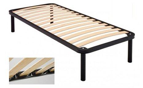 Rete a doghe in legno di faggio con perimetrale di ferro, scontata e di alta qualità scontata - 80x190 cm