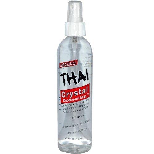 DEODORANT STONES OF AMERICA Thai Crystal Mist Spray 8 oz by Thai Deodorant Stone (Deodorant Crystal Spray Mist)