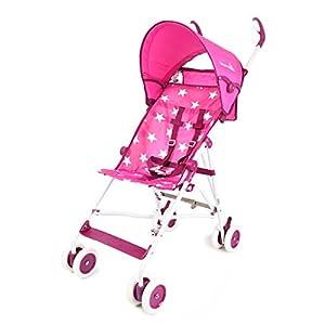 WonderBuggy Skyler Jumbo Umbrella Stroller | Features a Round Adjustable Canopy | Parent Organizer - Print Stars