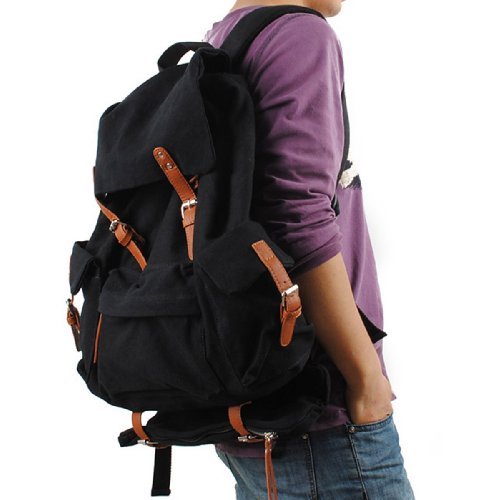 Backpack Stylish Shoulder Bag Canvas Traveling Hiking School 2Archer Genda wzfCqXxIX