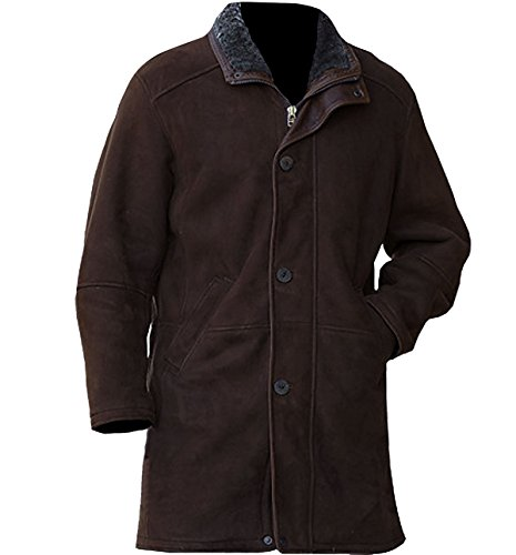 Suede Two Pocket Coat - NM Fashions Brown Two Side Pocket High Qaulity Suede Leather Trench Coat