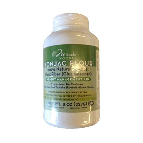 Miracle Noodle Konjac Flour, 8 oz, 100% Natural Soluable Plant Fiber, Low Calorie