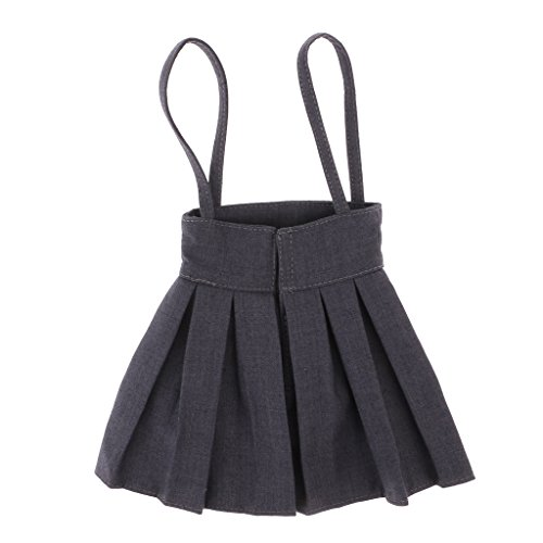 Bjd Dress - MonkeyJack 1/3 BJD Shoulder Strap Pleated Dress Mini Skirt for SD DD DOA LUTS Dolls Dress Up ACCS Smoky Grey