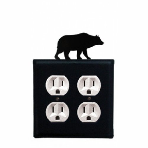 EOO-14 Bear Double Outlet Electric Cover by Village Wrought - Village Outlet