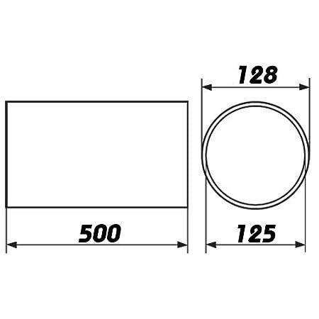 Plastique Tube rond 500/mm