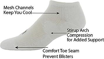Pree Mens No-Show Athletic Socks 6-Pack
