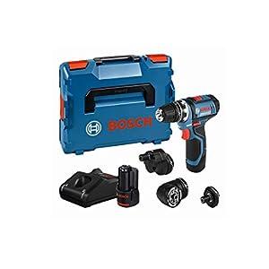 Bosch Professional GSR 12 V-15 FC Cordless Drill Driver Set with 2 x 12 V 2.0 Ah Lithium-Ion Batteries, L-Boxx