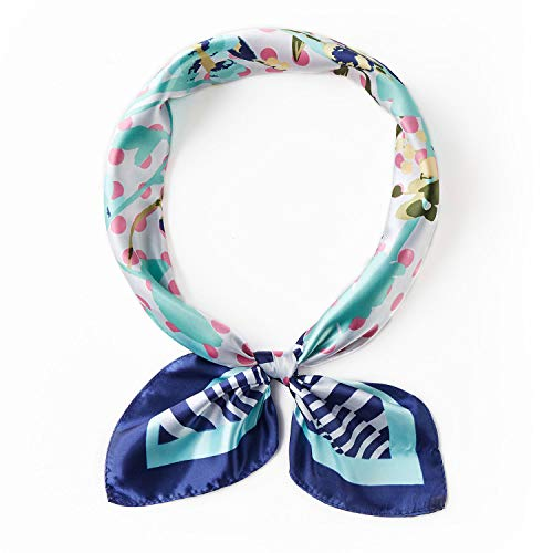 PAGE ONE Silky Neck Scarf Women's Fashion Pattern Large Square Neck Scarf -TW-C