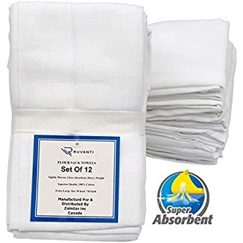 Amazon.com: White Flour Sack Towels -Pack of 5: Home & Kitchen