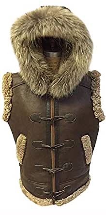 Men's RAF B3 Real Shearling Brown Real Leather Bomber