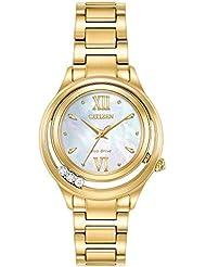 Ladies Citizen Eco-Drive L Sunrise LS Gold-Tone Watch EM0512-58D