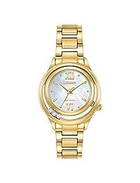 Citizen Women's L Sunrise LS 33MM Steel Bracelet ECO-Drive Watch EM0512-58D
