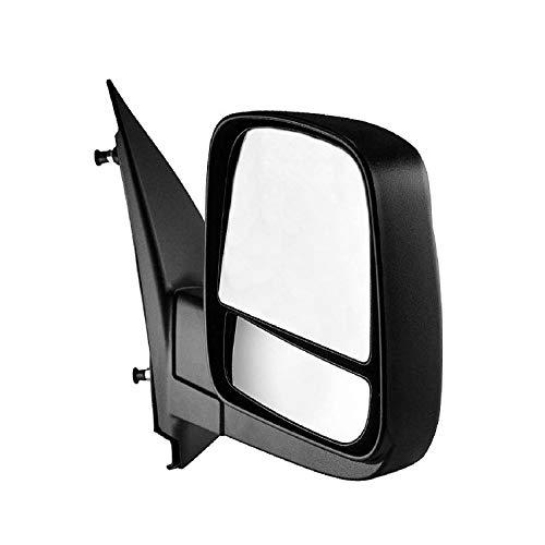 Passenger Side Textured Side View Mirror for 08-14 Chevy Express & GMC Savana 1500, 08-17 Chevy Express 2500 3500, GMC Savana 2500 3500 - with Blind Spot Corner Glass - GM1321395