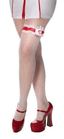 Rubie's Costume Adult Nurse Garter With Shot Glass, White/Red, One Size