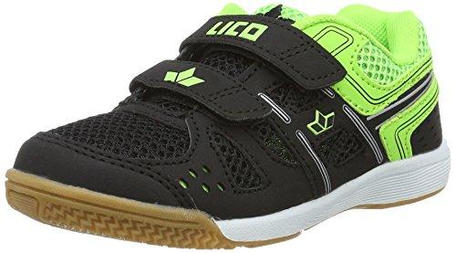 Lico Catcher V, Zapatillas Deportivas para Interior Unisex Niños Negro (Schwarz/lemon)