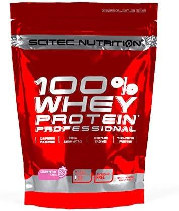 Scitec Nutrition Protein 100% Whey Protein Professional, Erdbeer, 500g