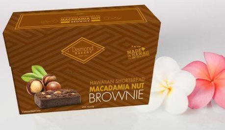 Macadamia Nut Brownies - Hawaiian Shortbread Macadamia Nut Cookies, Brownie 4 ounce (113g)