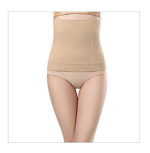 Postpartum Recovery After Baby Tummy Tuck Belt Body Slim Shaper Maternity Belly Bands (XS/S, skin color) (Belt Tummy Tuck)