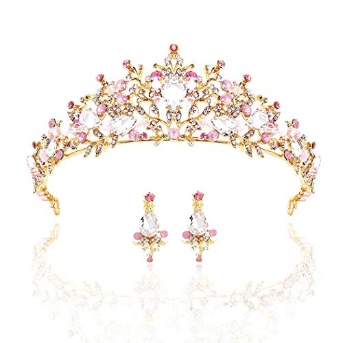 Barode Bridal Wedding Crowns Rhinestones Prom Tiaras Crystal Queen Crowns for Women and Girls ()