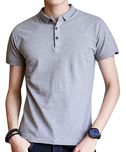 Coolred-Men Stretchable Original Fit Short-Sleeve Pique Polo Shirt Grey 2XL ()