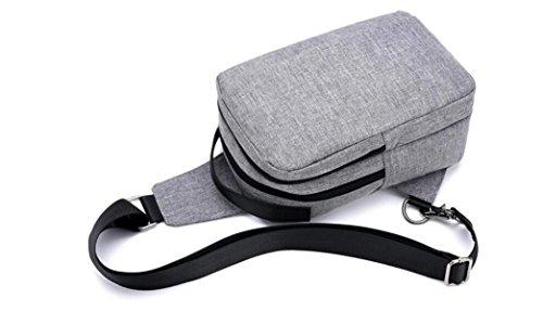 FZHLY Pecho Bolso Del Ocio Del Bolso Del Mensajero Del USB De Los Nuevos Hombres,Grey Grey