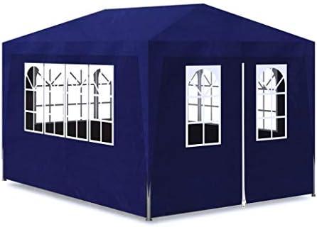 mewmewcat Carpa de Jardín para Camping Fiesta y Boda con 4 Paredes Impermeable Azul 3x4 m: Amazon.es: Deportes y aire libre