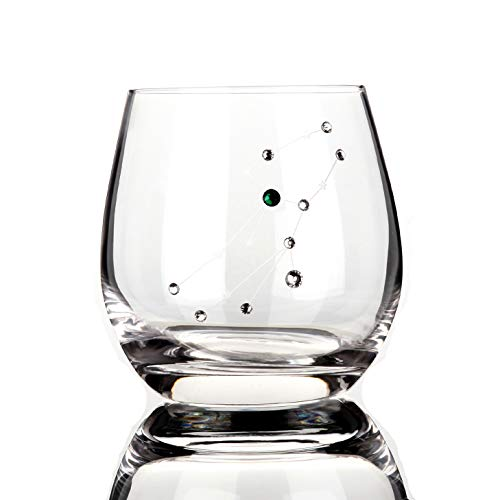 Detailz Zodiac Virgo Sign Wine Glasses Water Glasses, Constellation Accessories Gifts,11 Ounce (Virgo)