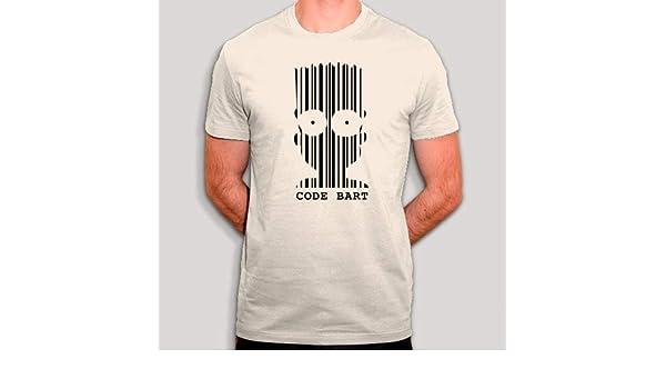 Camiseta Code Bart – Parodie Simpsons – Camiseta para Hombre, Color Blanco Roto Blanco Hueso XXL: Amazon.es: Ropa y accesorios