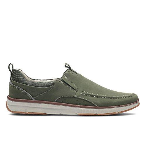 Clarks Adult Sport Deporte Hombre Zapatos Orson Row En Nobuk Verde