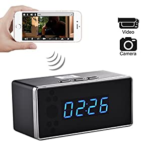 Wifi Hidden Camera HD Spy Mini Camera Night Vision Clock Wireless Remote Security Monitoring Motion Detection Video Recorder Nanny Cam