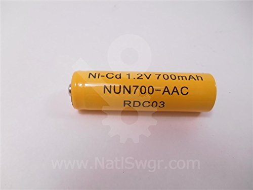 NUN700-AAC - AA NICKEL CADMIUM BATTERY (Pack of 5)