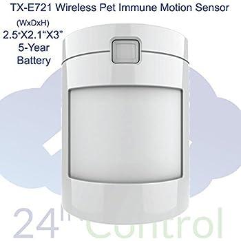 Interlogix TX-E721 Wireless Pet-Immune Motion Detector for Simon XT/XTi, Concord, NX, Qolsys systems